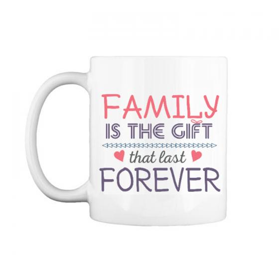 "Cốc chữ C 0.3L "" Family is the gift that last Forever """