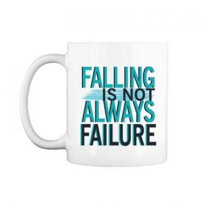 "Cốc chữ C 0.3L "" Falling is not Always failure """