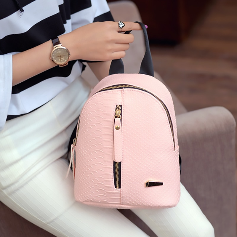 Backpack Women Backpack Fashion Small Women Travel Backpack Mini Shoulder Bag For Teenage Girl 2019 School Bag Bagpack Rucksack