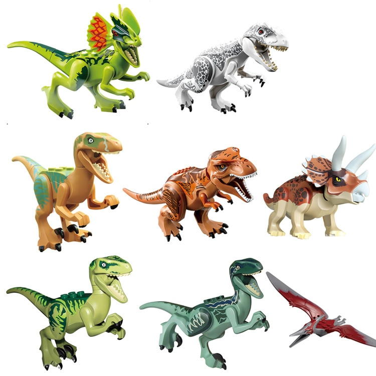Locking Dinosaurs Park Tyrannosaurus Rex Mini Single Sale Kid Baby Sets Model Building Blocks Brick Toys For Children Lockings