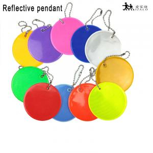 11 Colors Customized logo Soft PVC Reflective keychains charm bag pendant accessories reflective keyrings for road safety use