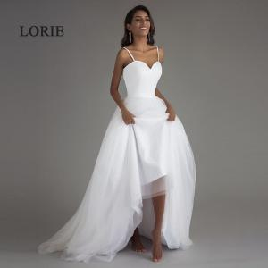 LORIE Spaghetti Strap Beach Wedding Dresses 2019 Vestido Noiva Praia White Tulle with Sashes Boho Bridal Gown A-line Bride dress - 10118019 , 32704486767 , 356_32704486767 , 59.99 , LORIE-Spaghetti-Strap-Beach-Wedding-Dresses-2019-Vestido-Noiva-Praia-White-Tulle-with-Sashes-Boho-Bridal-Gown-A-line-Bride-dress-356_32704486767 , aliexpress.com , LORIE Spaghetti Strap Beach Wedding