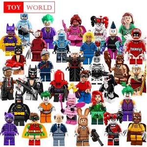 ninjago Single Sale Buzz Lightyear Batman Gingerbread Man iron man Building Block Figures Toys for children Compatible superhero