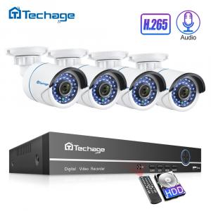 Techage H.265 8CH 1080P POE NVR CCTV Security System Set 2.0MP Audio Sound Record IP Camera P2P Outdoor Video Surveillance Kit