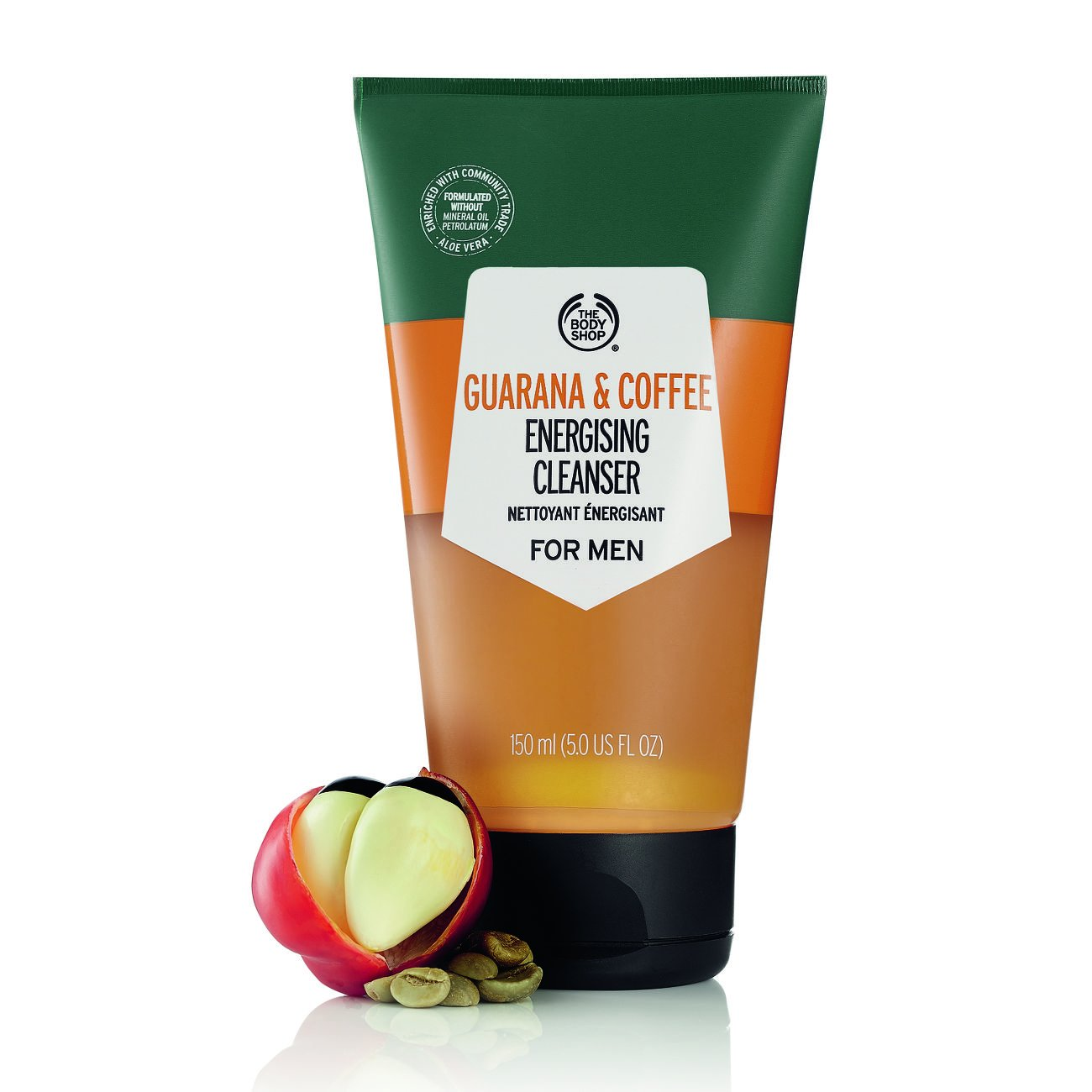 Sữa rửa mặt The Body Shop Guarana and Coffee Energising Cleanser For Men