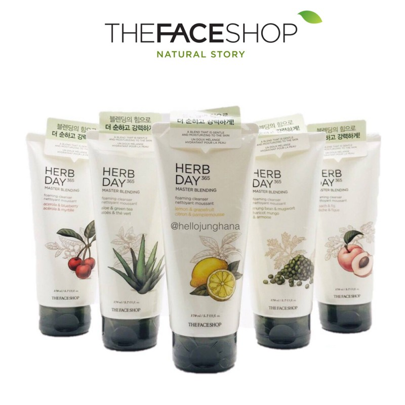 Sữa rửa mặt The Face Shop Herb Day 365 Cleansing Foam Acerola